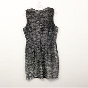 Vintage Black/Silver Metallic Dress - Size 14